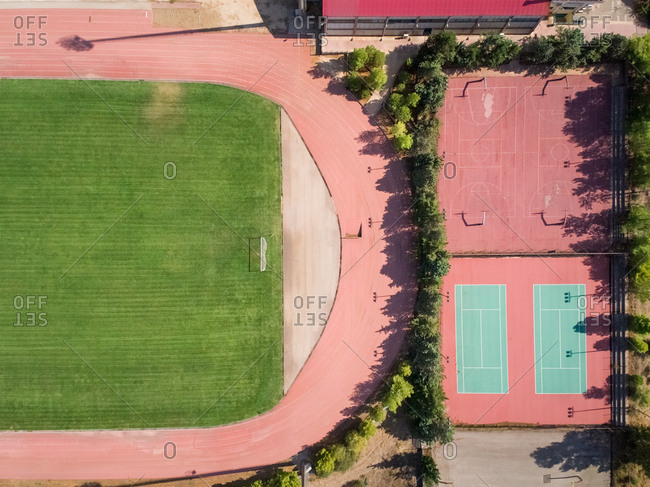Aerial view of sport fields