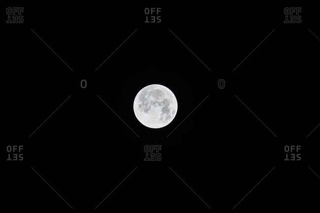 View of full moon in the night sky