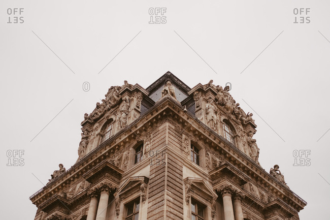 Corner of paris building