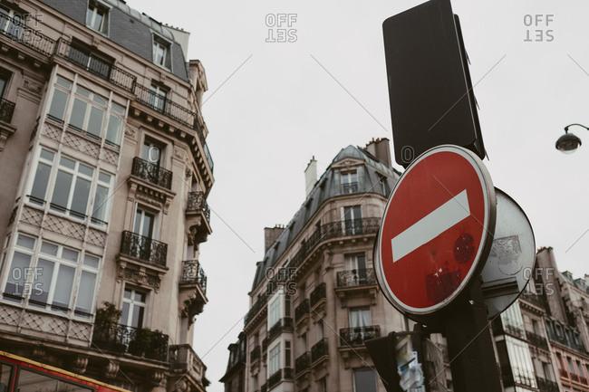 No entry sign in Paris