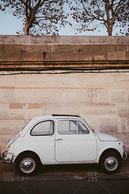 Paris, France - November 22, 2017: Tiny european car