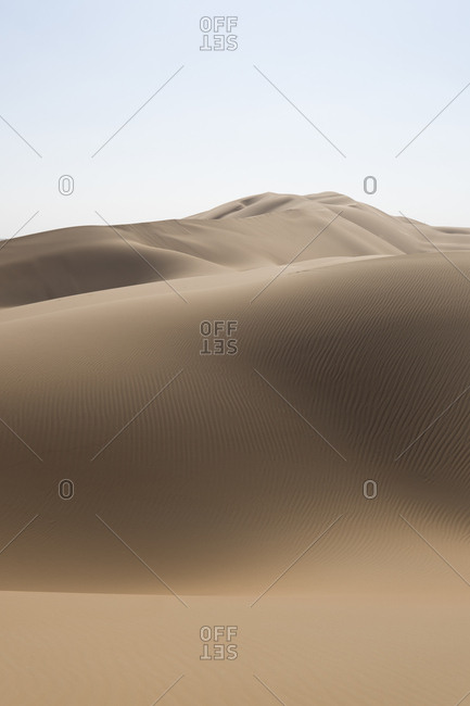Ripples in the desert dunes in the Empty Quarter, Oman