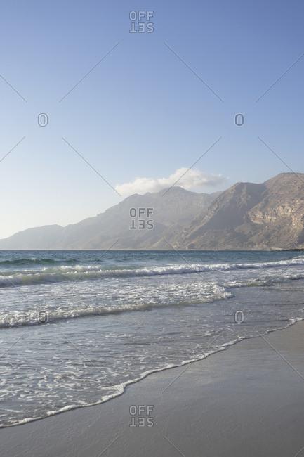 Coastline of Dhofar along the road from Hasik, Oman