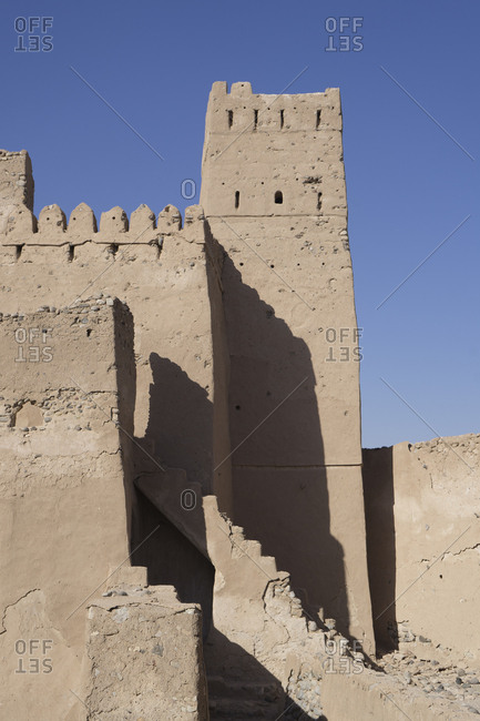 The crumbling fort of Jalan Bani Bu Ali, Ash Sharqiya South, Oman