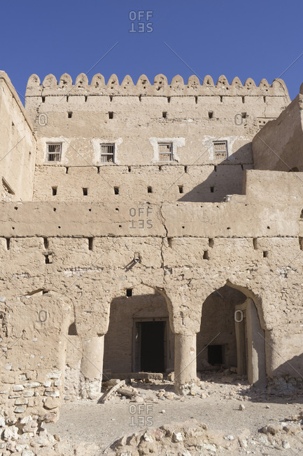 The crumbling fortress of Jalan Bani Bu Ali, Ash Sharqiya South, Oman