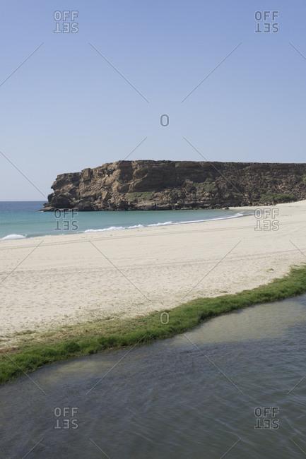 Lagoon of Khor Rori, Dhofar, Oman