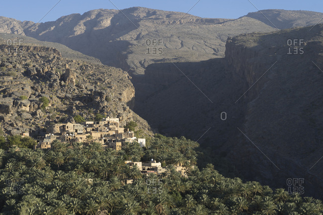 Misfat Al Abriyeen, a mountain village near Al Hamra in Oman's Dakhiliyah governorate