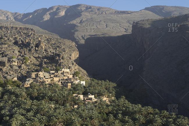 Misfat Al Abriyeen, a mountain village near Al Hamra in Oman's Dakhiliyah governorate