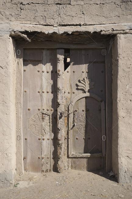 Old Dhofari doorway, Oman