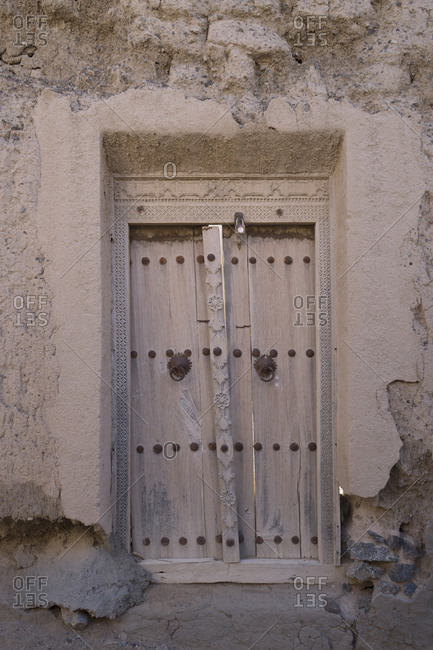Old wooden doorway, Oman