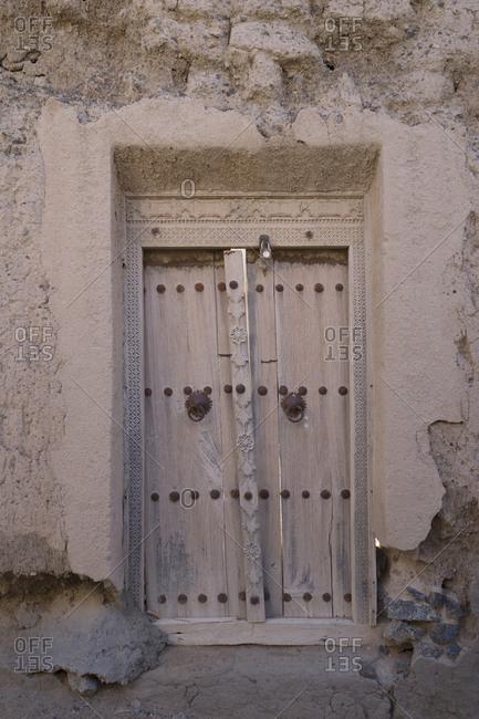 Old wooden doorway, Oman