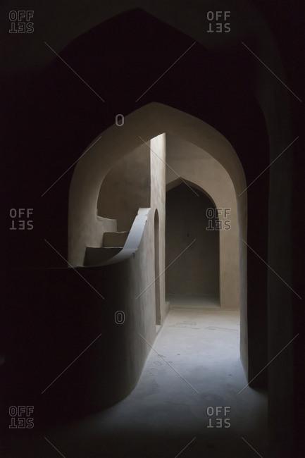 Oman - November 19, 2016: Interior of Bait al Sarooj