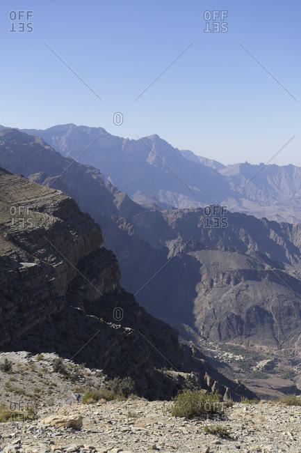 View of the Western Hajar from Sharafat al Alamayn, Oman