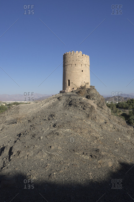 Fortified tower in the Samail region of Oman