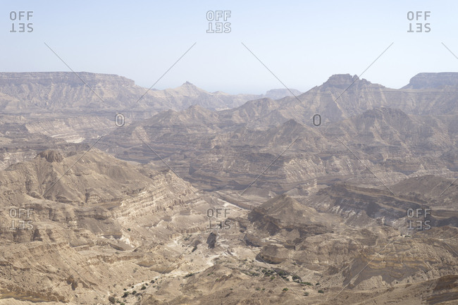 Desolate wilderness of Dhofar along the Omani coast