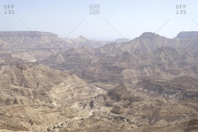 Desolate wilderness of Dhofar along the Omani coast