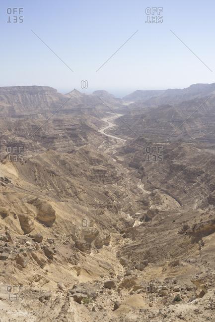 Canyons of Dhofar along the Omani coast