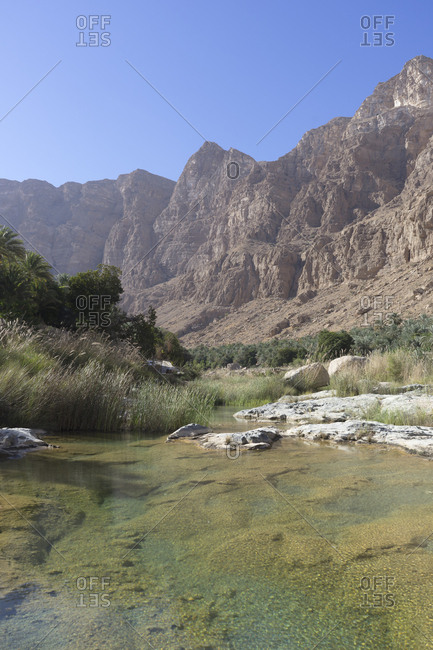 Wadi Tiwi in Ash Sharqiya North, Oman