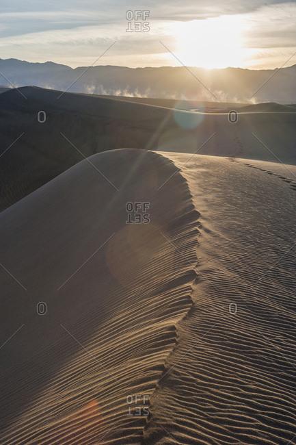 Sunset on sand dunes