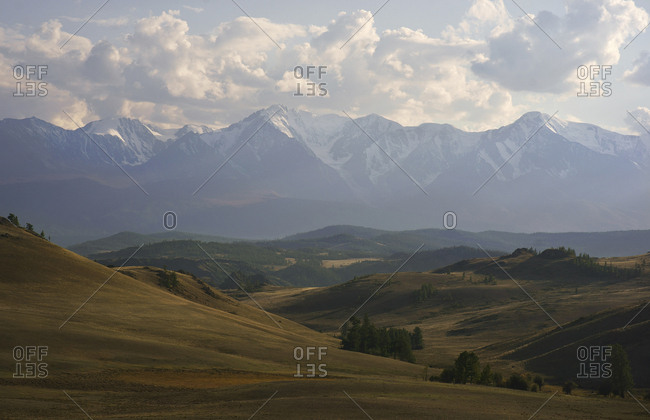 Scenic view of mountains and rolling landscape