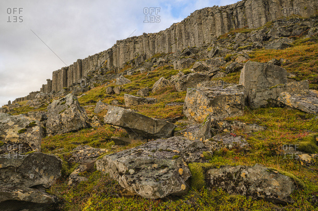Basalt Columns In Iceland Are Eroding And Crumbling, Snaefellsness Peninsula; Iceland