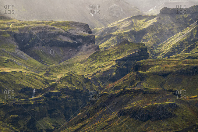 The Verdant Green Mountains Of Iceland's South Coast; Iceland