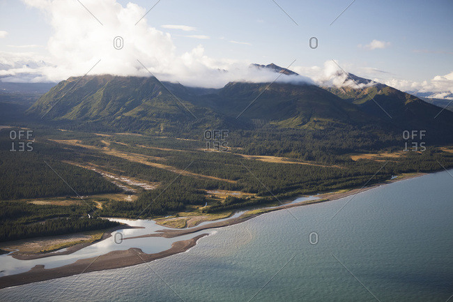 Saddle Mountain And Cook Inlet, South-Central Alaska; Alaska, United States Of America
