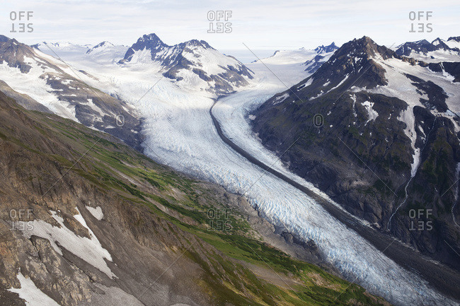 Glacier In The Kenai Mountains, Kachemak State Park; Alaska, United States Of America