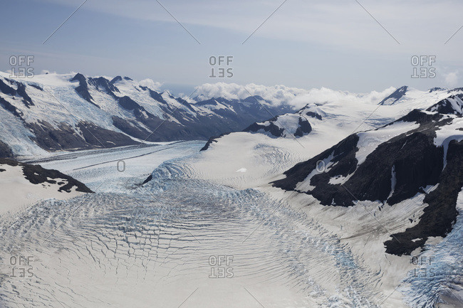 Chernof Glacier And McCarty Glacier, Harding Ice Field, Kenai Fjords National Park; Alaska, United States Of America