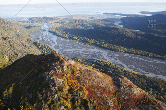 Landscape Of Kenai Mountains And Kachemak Bay, Kachemak Bay State Park; Alaska, United States Of America