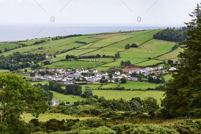 A Small Coastal Town In Northern Ireland; Ireland
