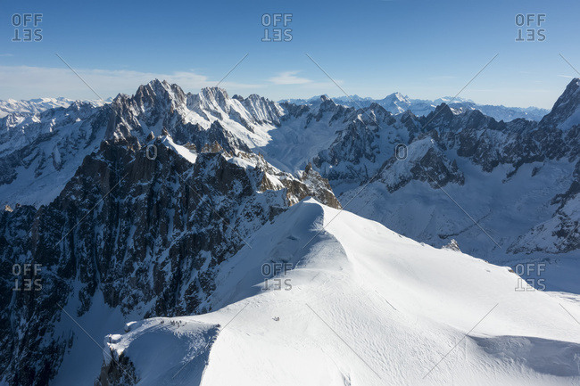 Vallee Blanche, Off-Piste Skiing; Chamonix, France