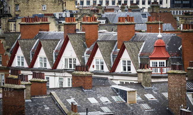 Old Rooftops And Chimneys; Newcastle Upon Tyne, Tyne And Wear, England