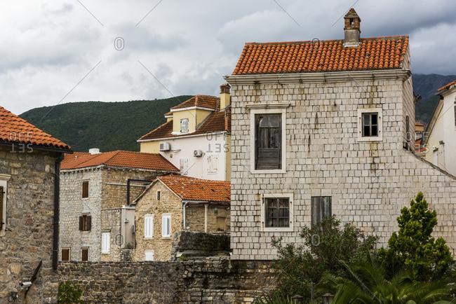 Old stone houses; Budva, Opstina Budva, Montenegro