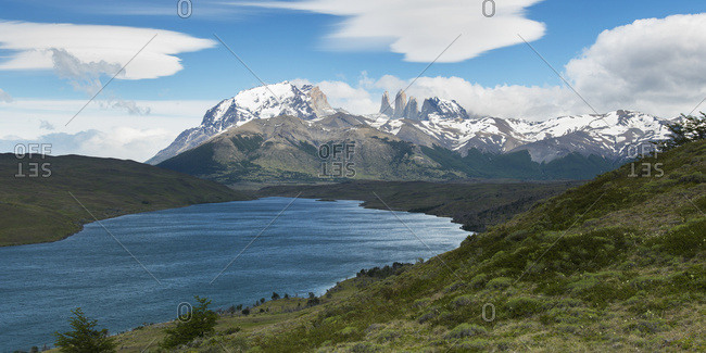 Torres Del Paine Mountains; Torres Del Paine, Magallanes And Antarctica Chilena Region, Chile