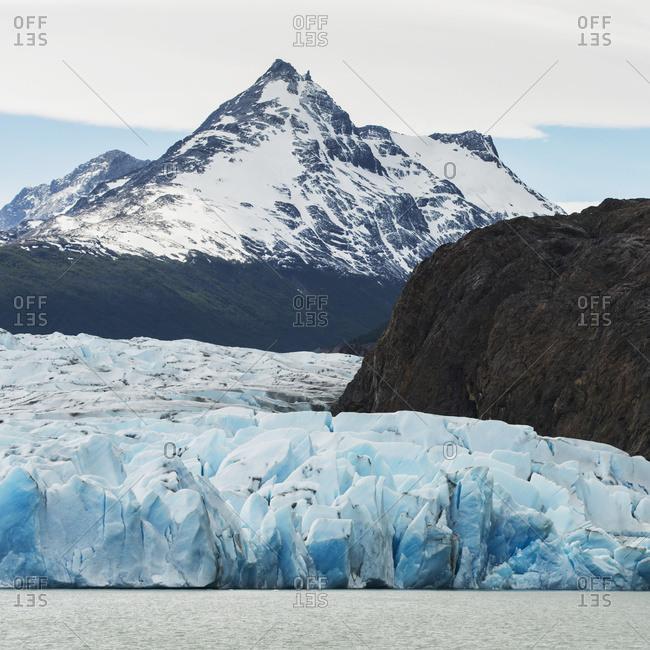 Grey Lake And Grey Glacier, Torres Del Paine National Park; Torres Del Paine, Magallanes And Antarctica Chilena Region, Chile