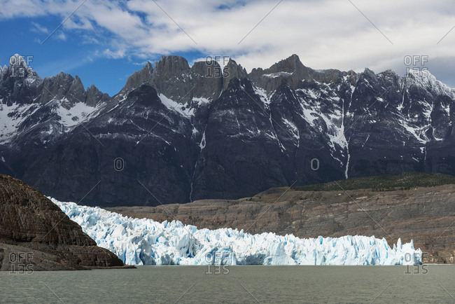 Grey Glacier And Grey Lake, Torres Del Paine National Park; Torres Del Paine, Magallanes And Antarctica Chilena Region, Chile