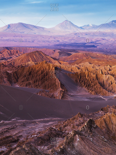 Death Valley At Sunset; San Pedro De Atacama, Antofagasta Region, Chile
