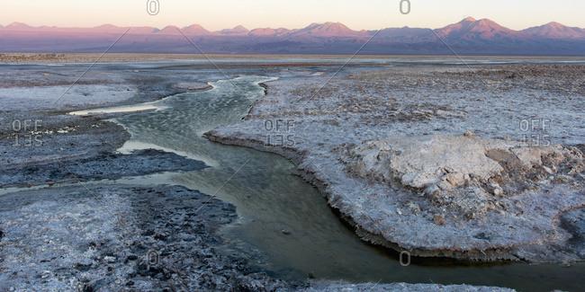Salt Flat; San Pedro De Atacama, Antofagasta Region, Chile