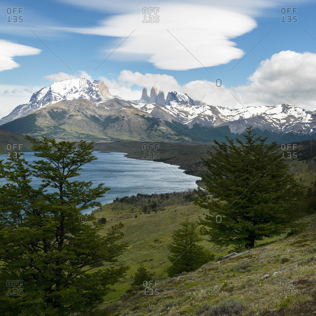 Torres Del Paine National Park Landscape; Torres Del Paine, Magallanes And Antarctica Chilena Region, Chile