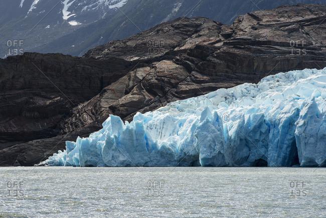 Grey Glacier And Grey Lake In Torres Del Paine National Park; Torres Del Paine, Magallanes And Antarctica Chilena Region, Chile