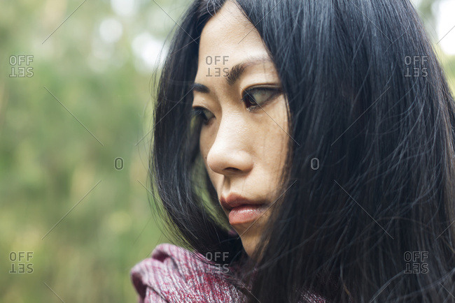 Portrait Of A Chinese Young Woman; Xiamen, China