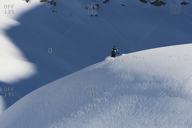 Snowboarding; St. Moritz, Graubunden, Switzerland