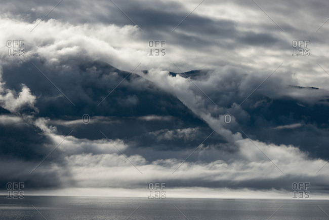 Fog Over The Sea In The Chilkoot Inlet; Haines, Alaska, United States Of America