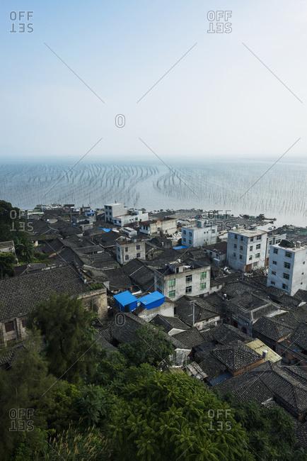 Buildings In A Fishing Village Along The Coast; Xiapu, Fujian, China