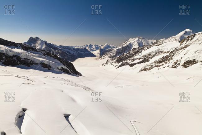 View Of Aletsch Glacier From Jungfraujoch; Bernese Oberland, Switzerland