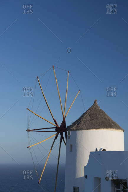 An Old Windmill; Oia, Santorini, Cyclades, Greek Islands, Greece
