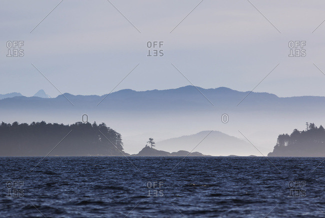 The Pacific Ocean Near Hakai Pass On The Central Coast; British Columbia, Canada