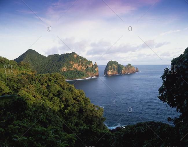 View Across The Southeastern Coastline Of American Samoa; American Samoa