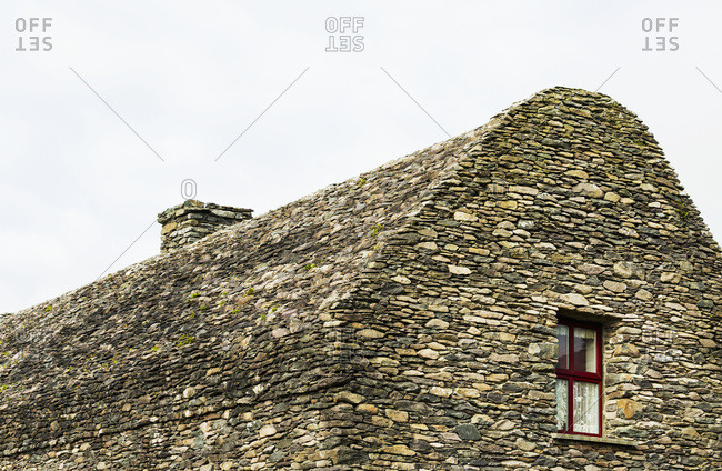 All Stone Building (Bee Hive Structure) With Small Red Framed Window; Dingle, County Kerry, Ireland